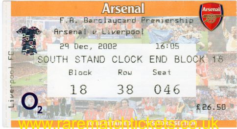 2002-03 EPL ARSENAL 1 [LIVERPOOL] 1
